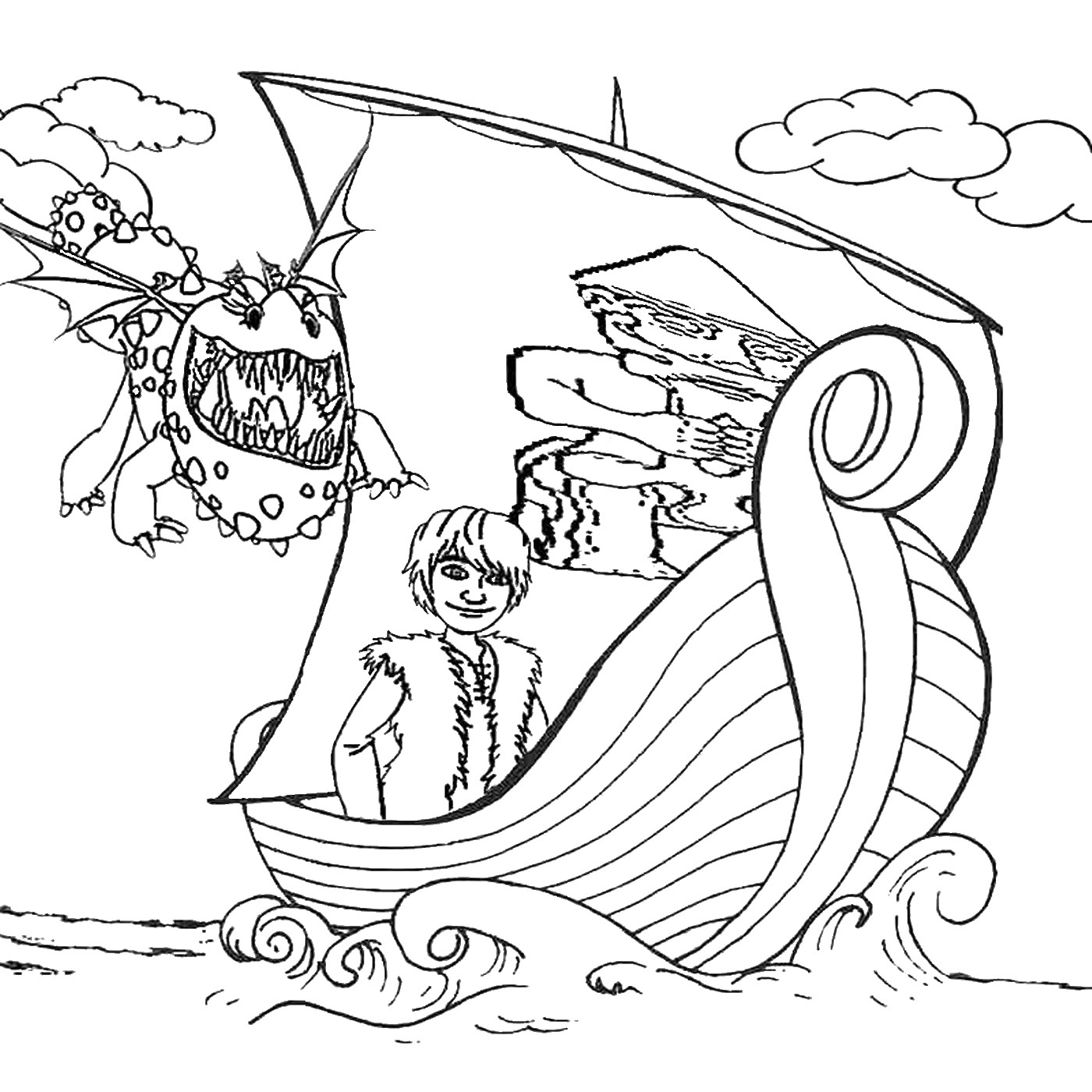 Colouring pages how to train your dragon - How To Train Your Dragon Printable Coloring Pages