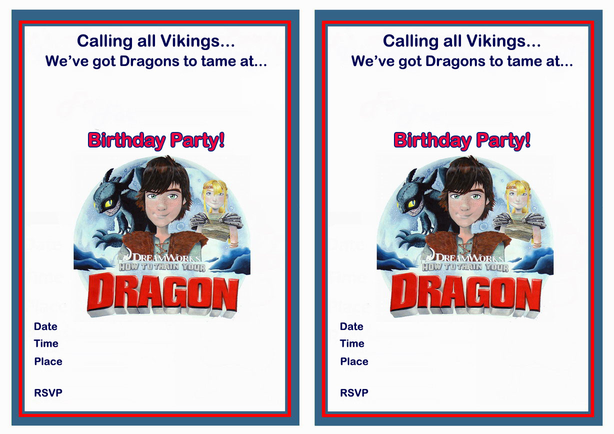 How to Train Your Dragon Birthday Invitations – Birthday Printable