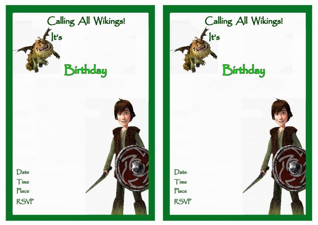 How to Train Your Dragon Birthday Invitations   Birthday ...