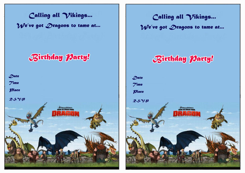 How to Train Your Dragon Birthday Invitations – Birthday ...