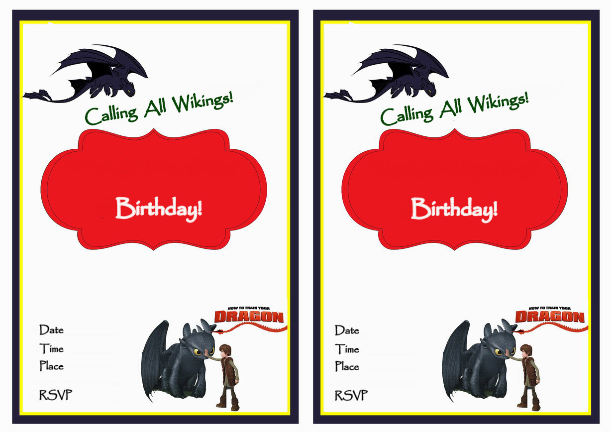 How to Train Your Dragon Birthday Printable
