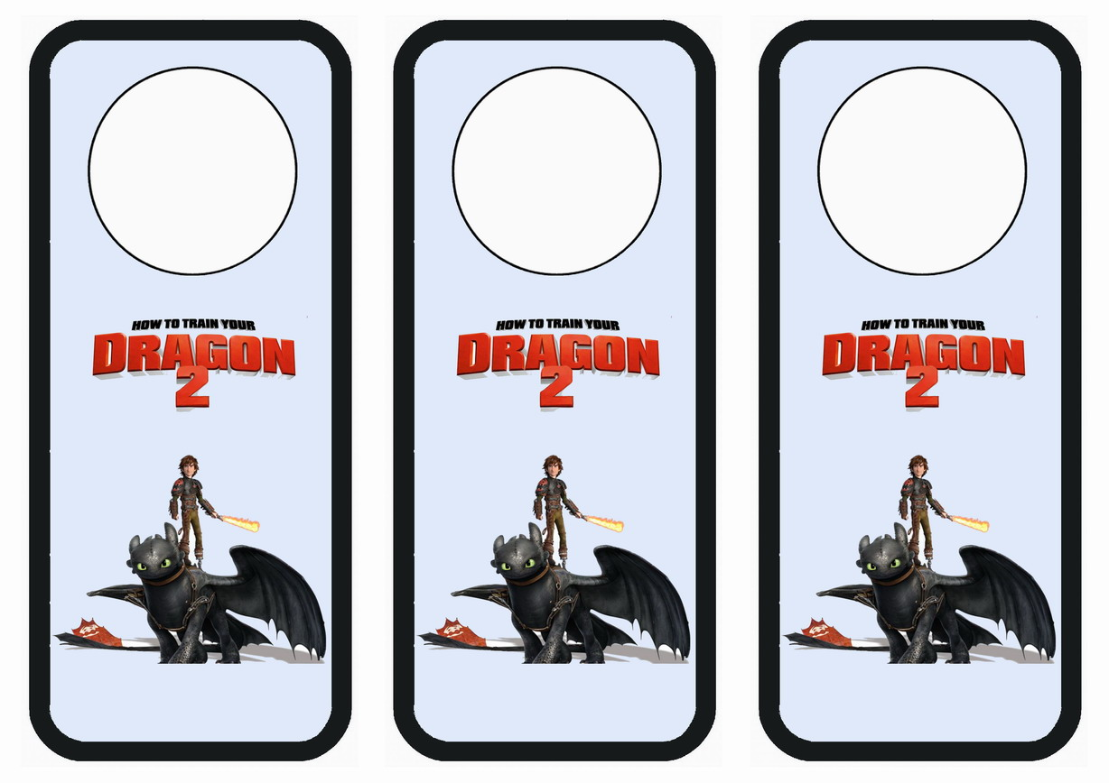 How To Train Your Dragon Door Hangers Birthday Printable