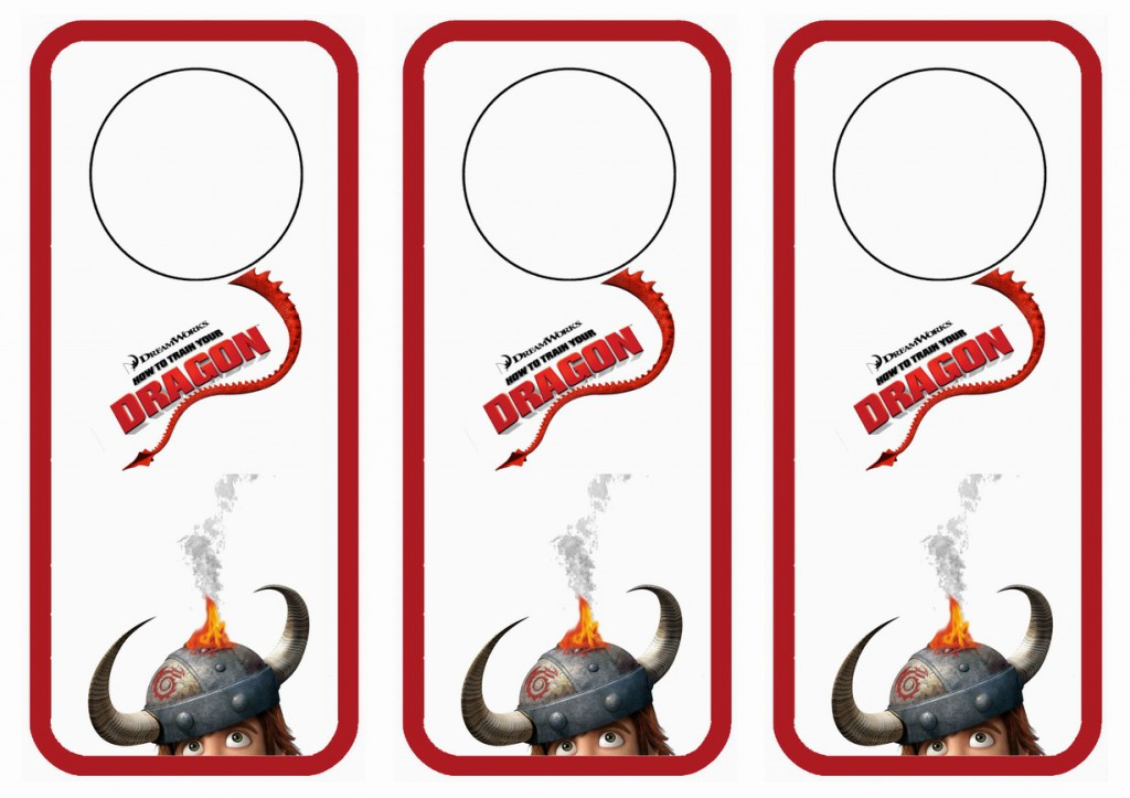 How to Train Your Dragon Door Hangers