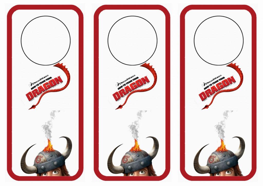 how to train your dragon door hangers