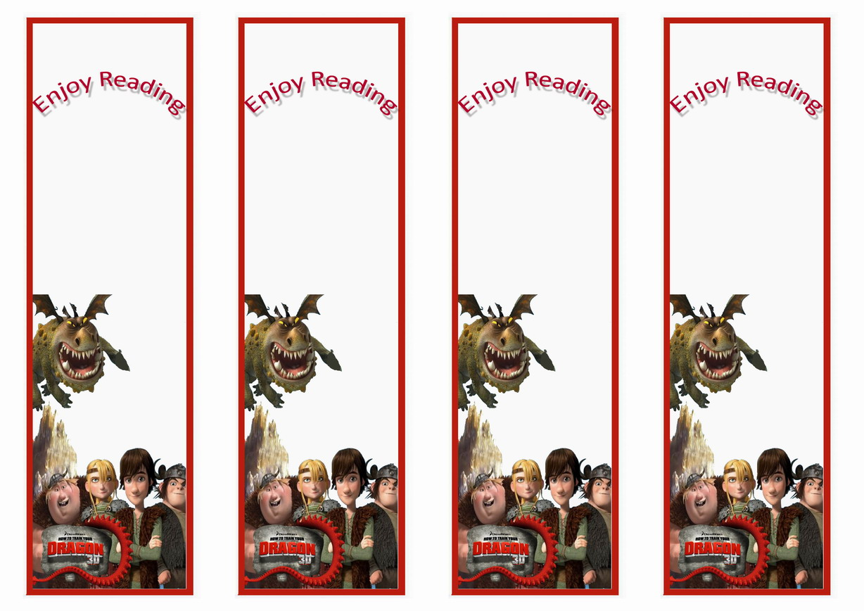 How to Train Your Dragon Bookmarks – Birthday Printable