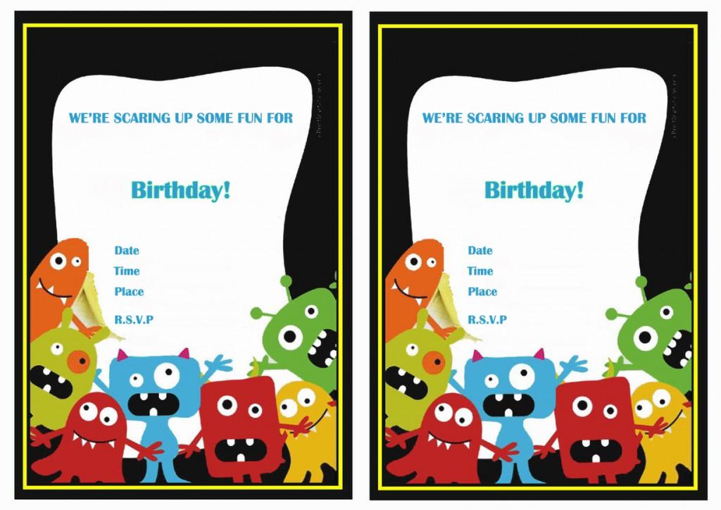 Monsters University Birthday Invitations