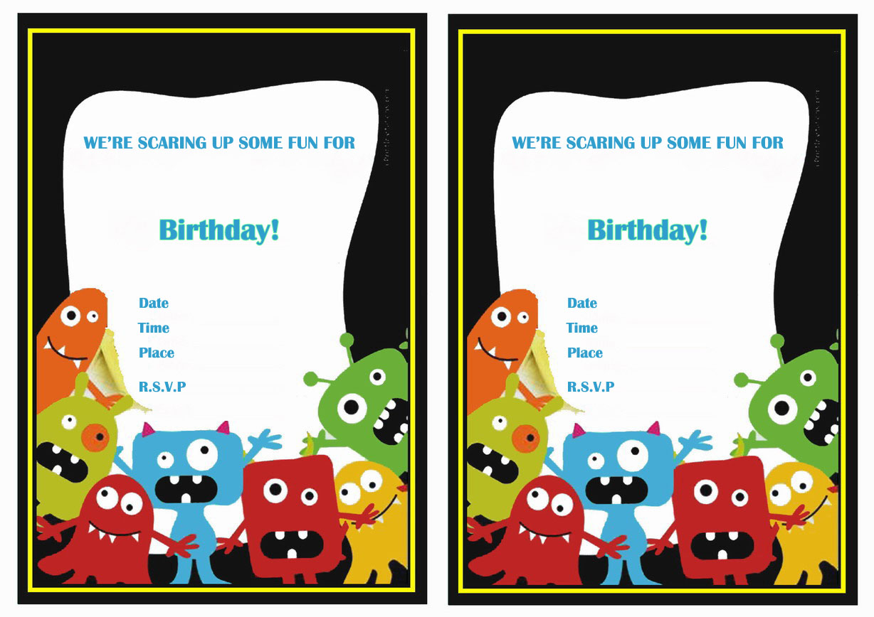 monsters university birthday invitations birthday printable monsters university birthday invitations