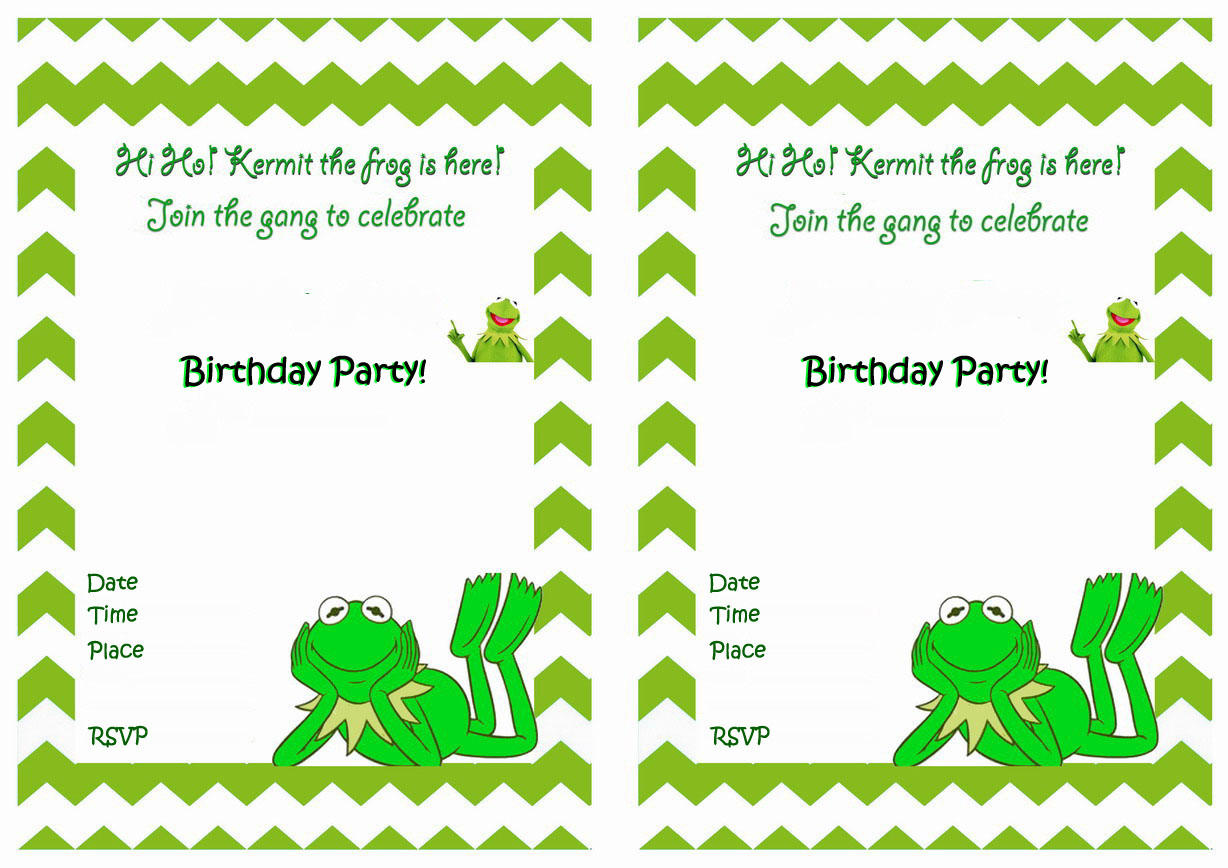 Muppets Most Wanted Birthday Invitations Birthday Printable
