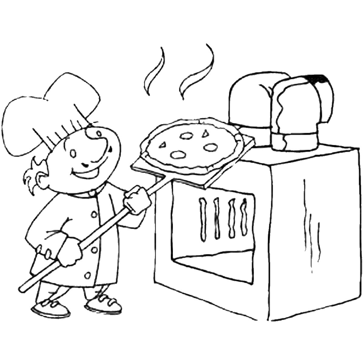 Pizza Coloring Pages Birthday Printable