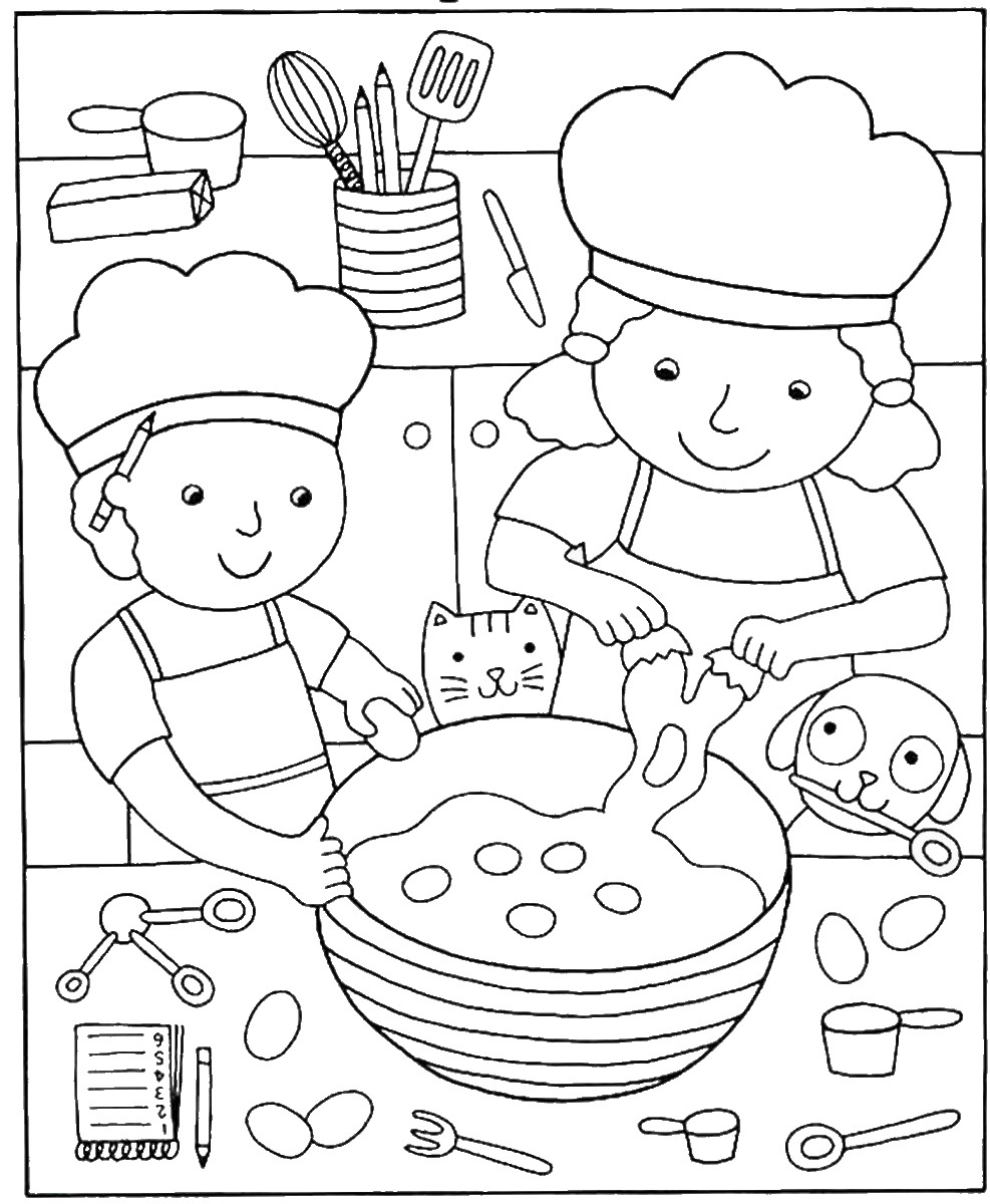 Pizza Coloring Pages - Birthday Printable
