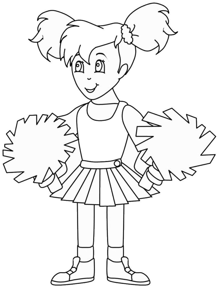 printable cheerleading coloring pages cheerleading coloring pages birthday printable