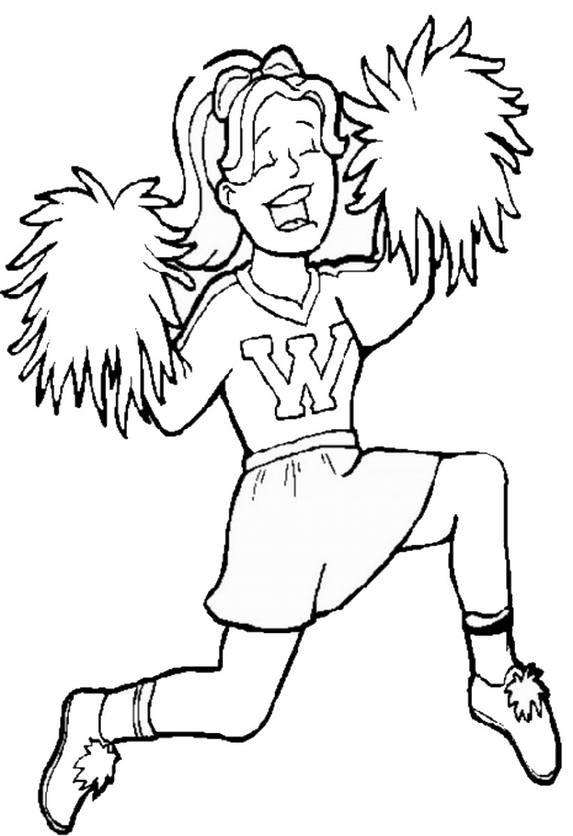 cheerleaded coloring pages - photo#36