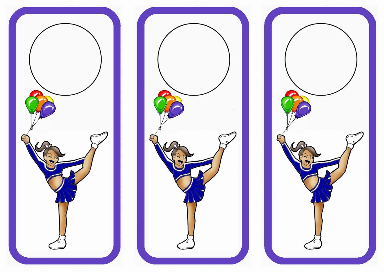 Cheerleading Door Hangers Birthday