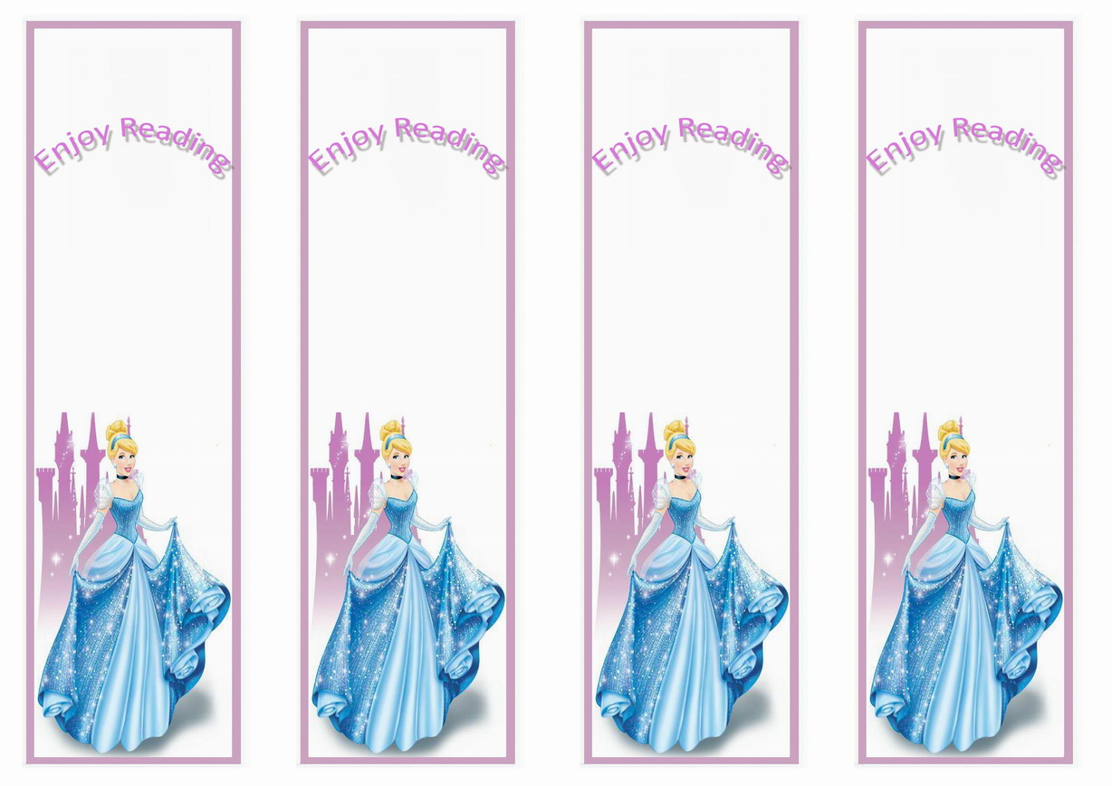 Cinderella Bookmarks Birthday