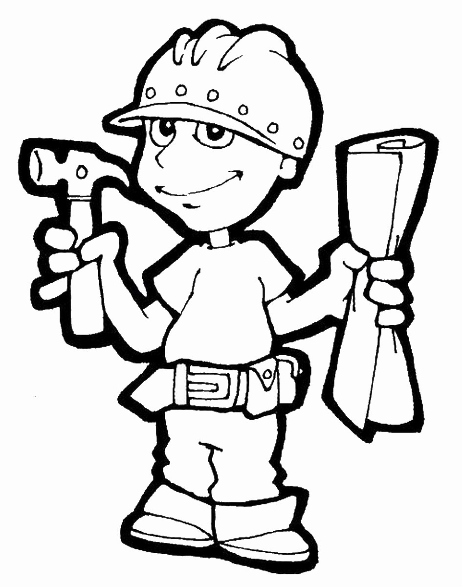 Constructions Coloring Pages | Birthday Printable