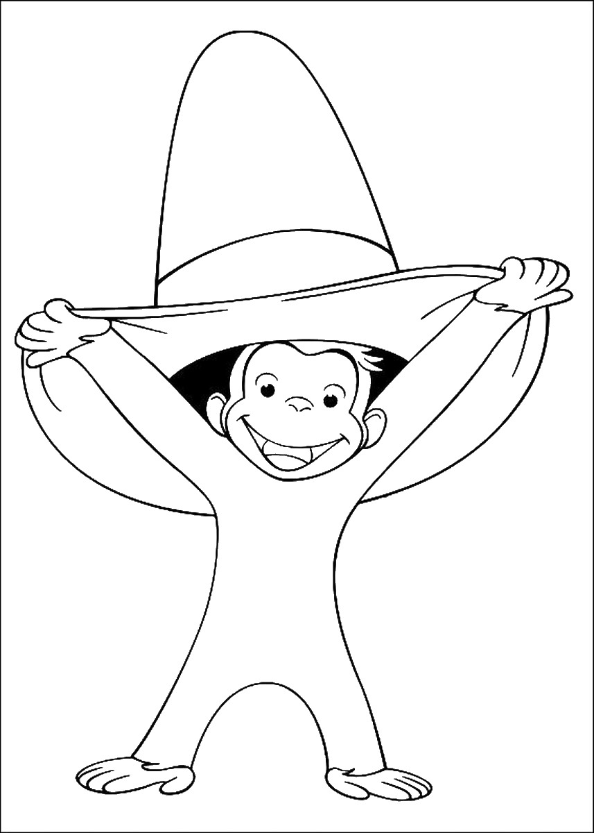 It is a photo of Irresistible Curious George Printable Coloring Pages