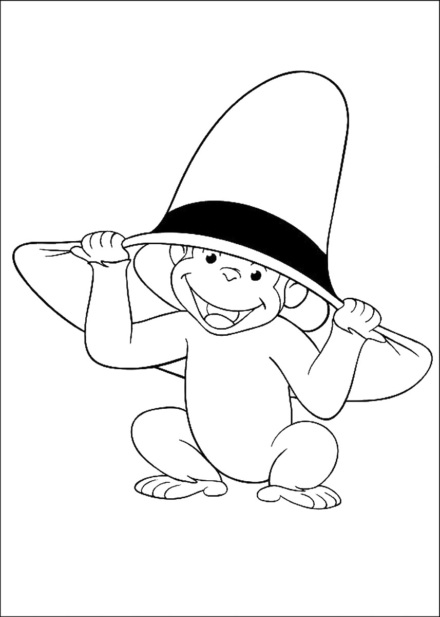 Curious George Coloring Pages Birthday Printable