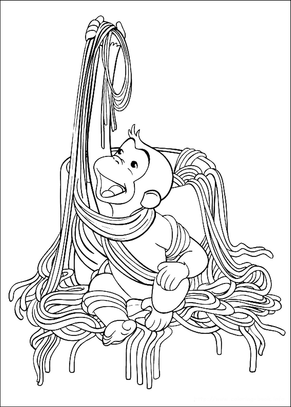 Curious Gee Coloring Pages