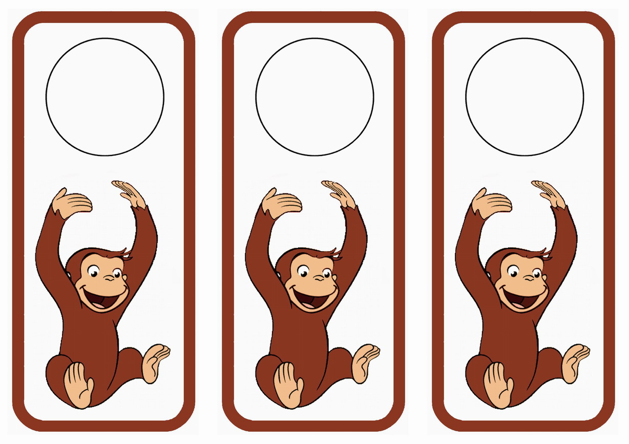 Curious George Doorhangers Birthday Printable