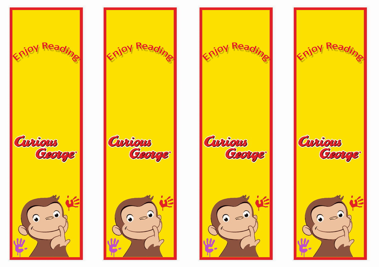 Curious Gee Bookmarks Birthday