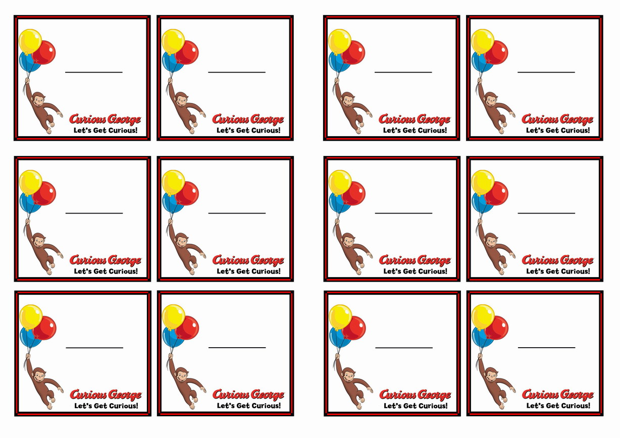 curious george u2013 birthday printable