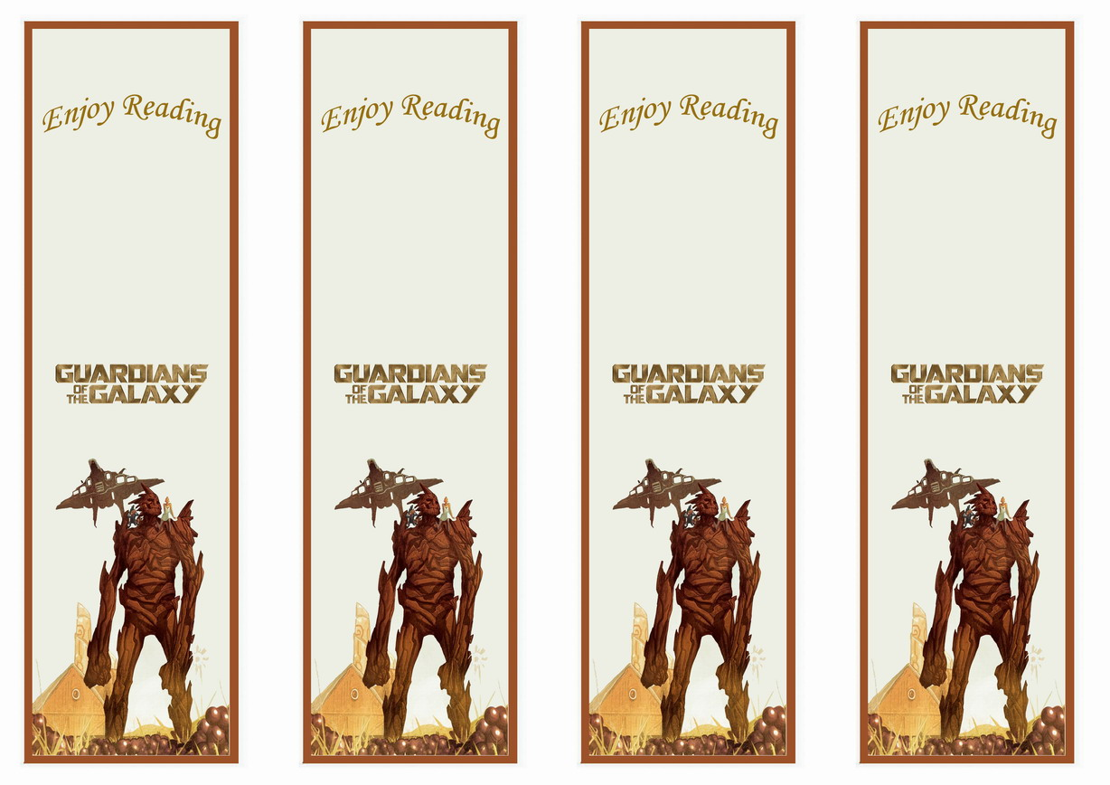 Guardians of the Galaxy Bookmarks – Birthday Printable