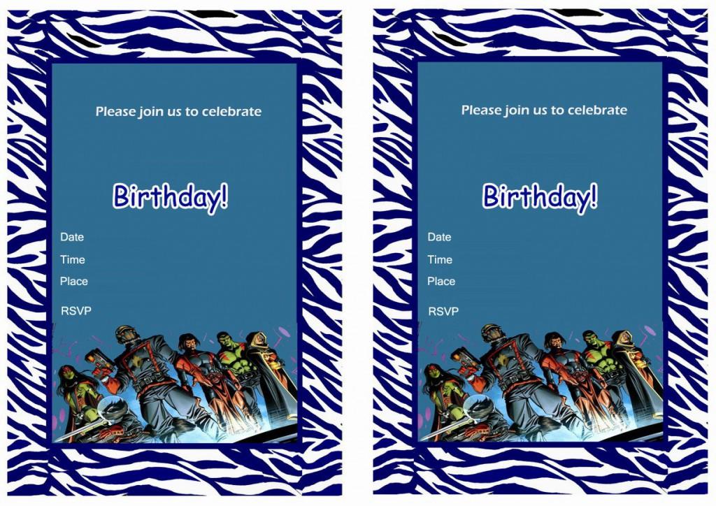 Guardians of the Galaxy Birthday Invitations – Birthday ...