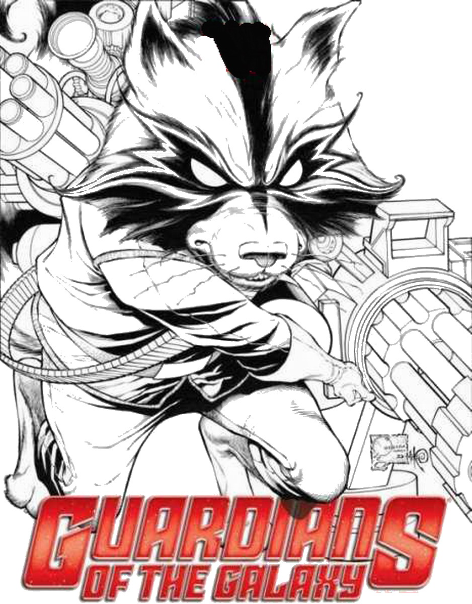 Guardians of the Galaxy Coloring Pages | Birthday Printable