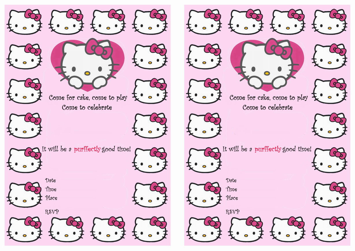 hello kitty birthday invitations birthday printable more from this site hello kitty