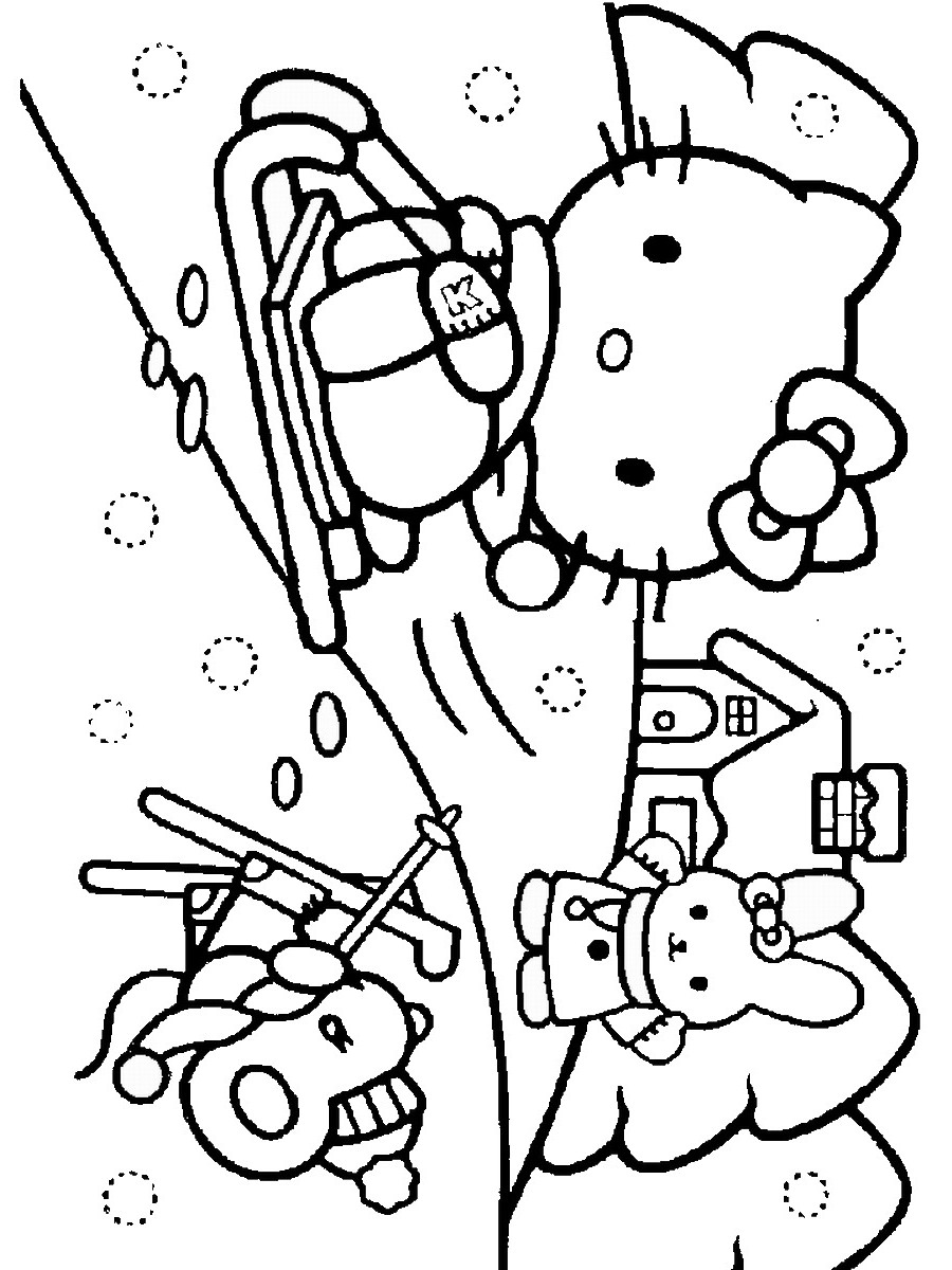 Hello Kitty Baking Coloring Pages : Free coloring pages of hello baking