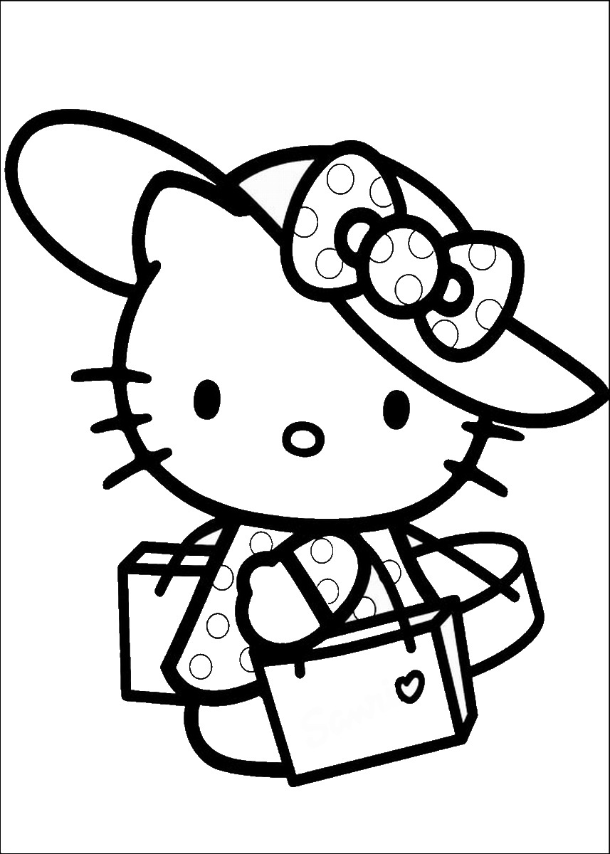Hello Kitty Coloring Pages | Birthday Printable