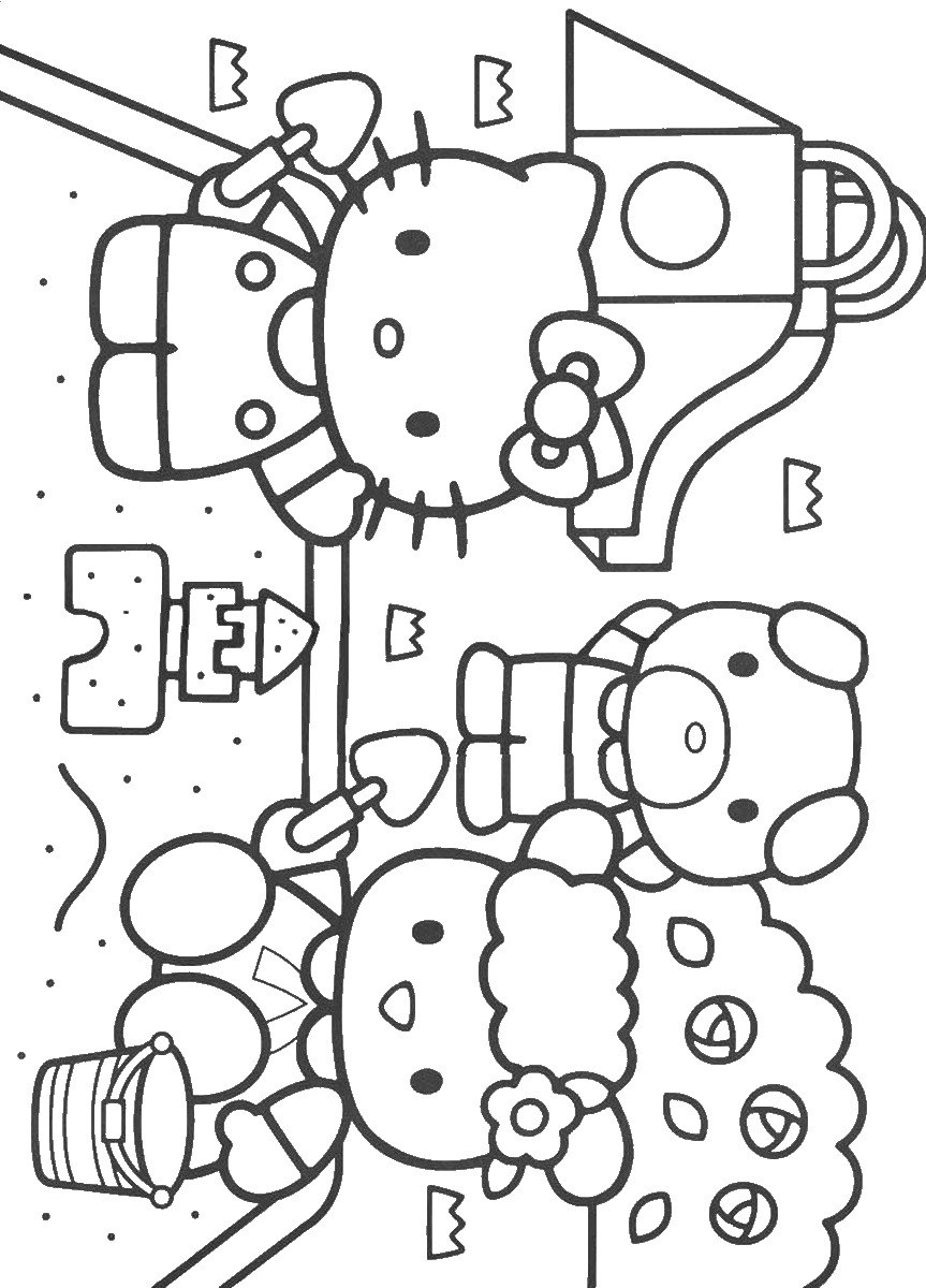 Hello Kitty Coloring Pages Birthday