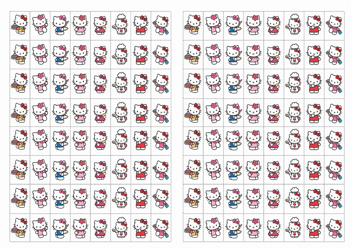 Hello Kitty Stickers – Birthday Printable
