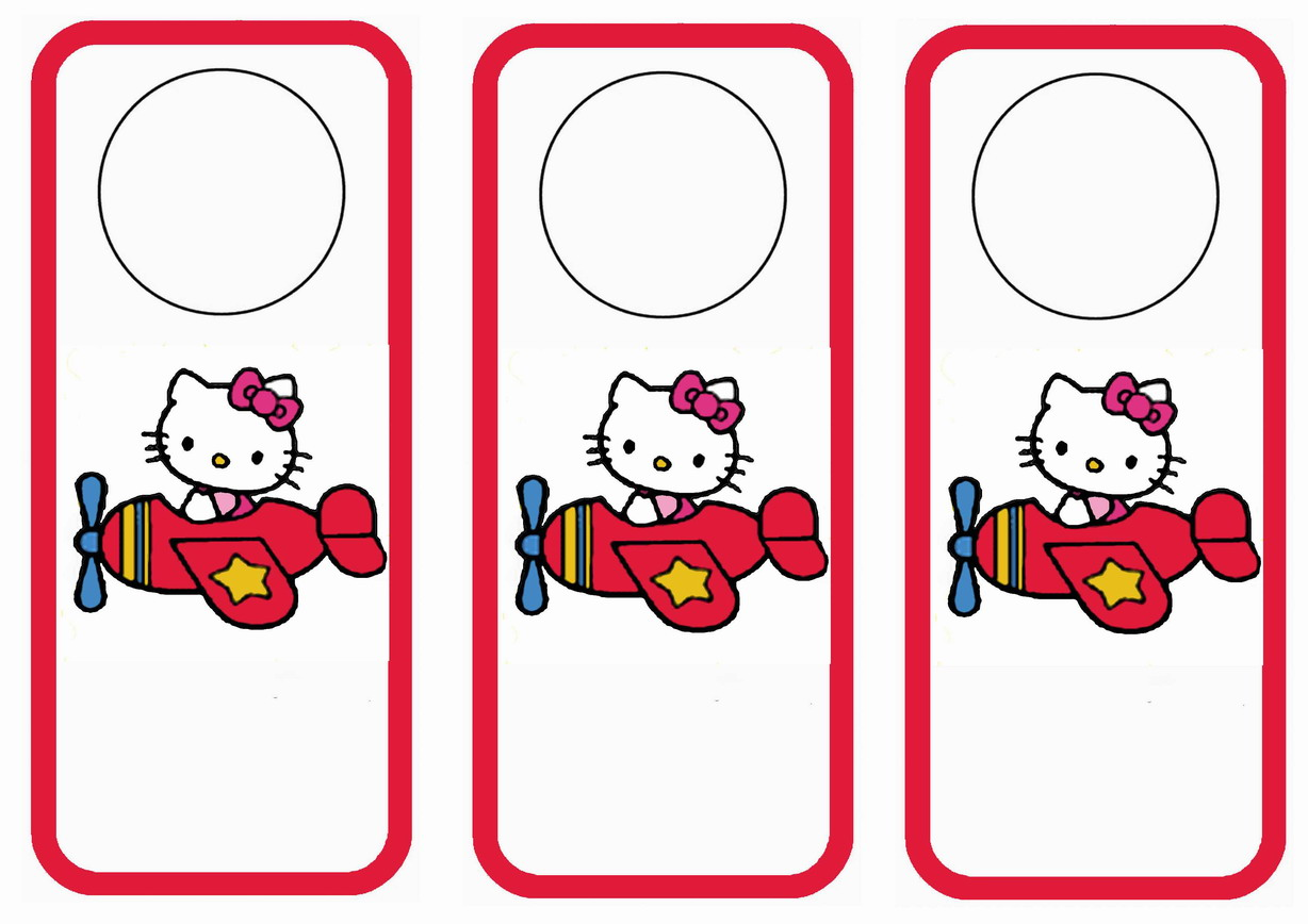 Hello Kitty Door Hangers Birthday
