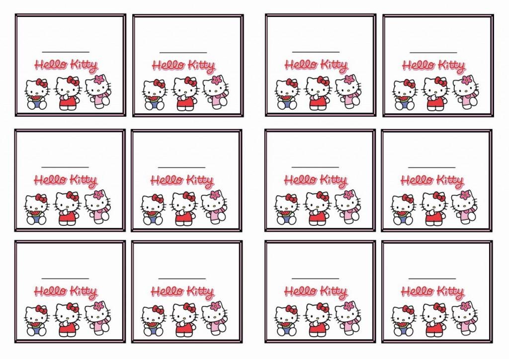 Hello Kitty Name Tags Birthday Printable