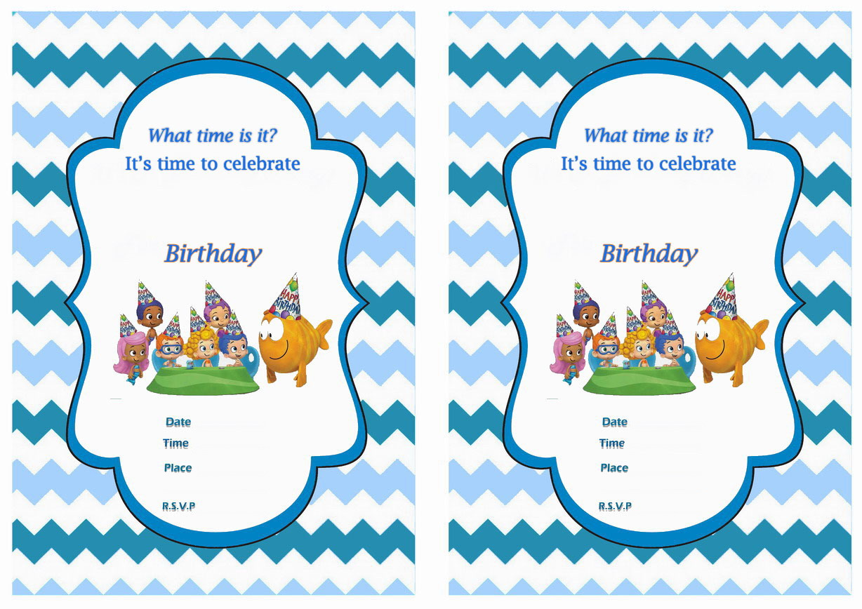 Bubble Guppies Bookmarks Birthday Printable