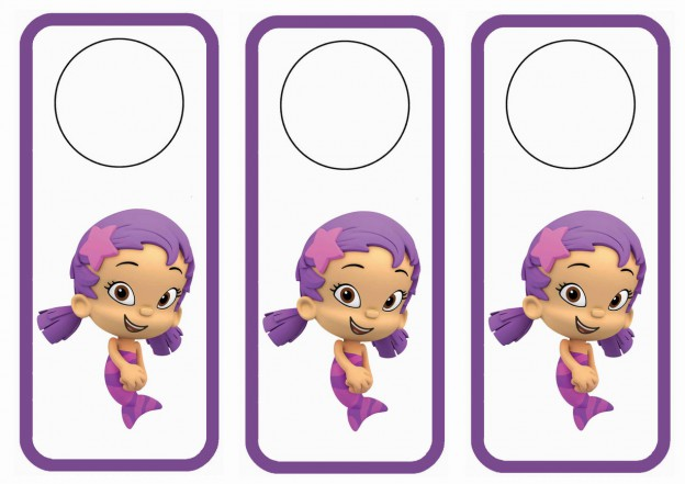 Bubble Guppies Door Hangers Birthday Printable