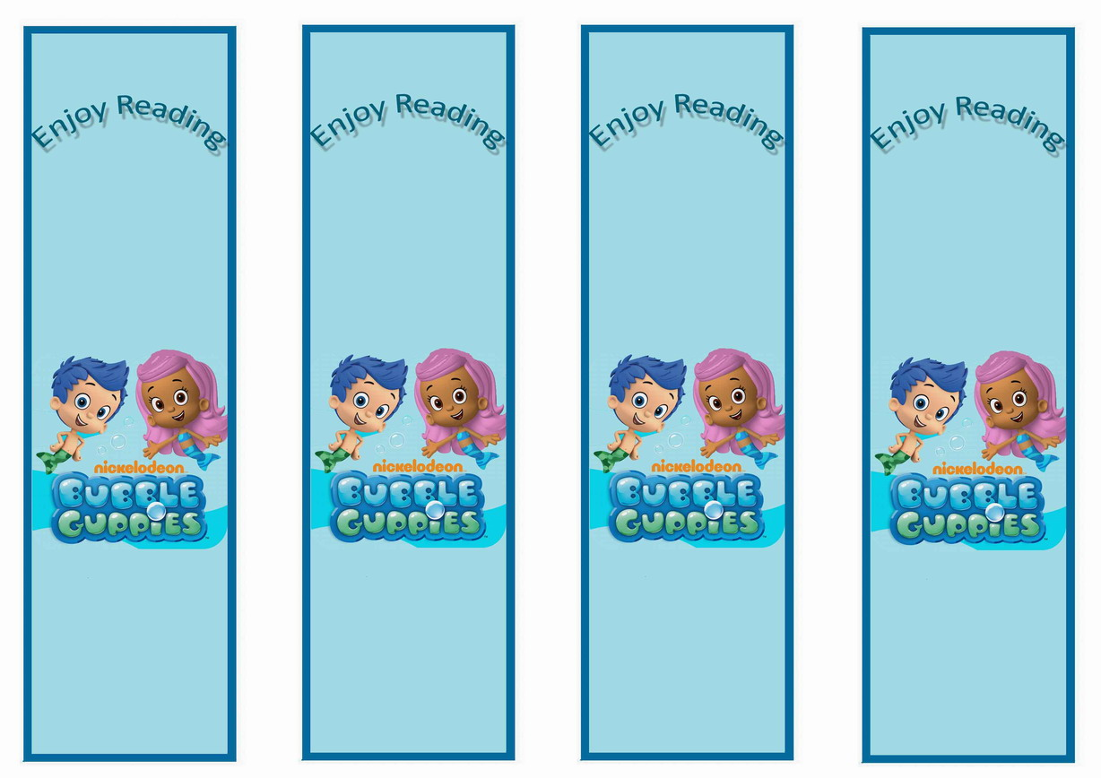 bubble guppies bookmarks birthday by theme birthday printables ...