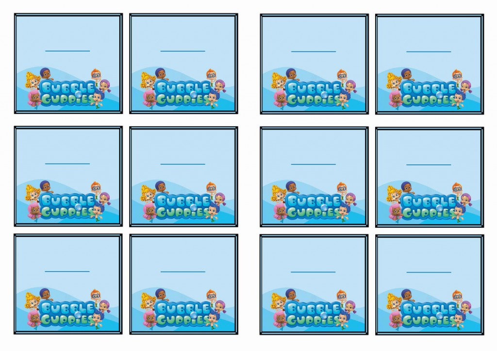Bubble Guppies Name Tags Birthday Printable