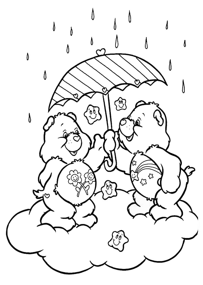 Care Bears Coloring Pages Birthday