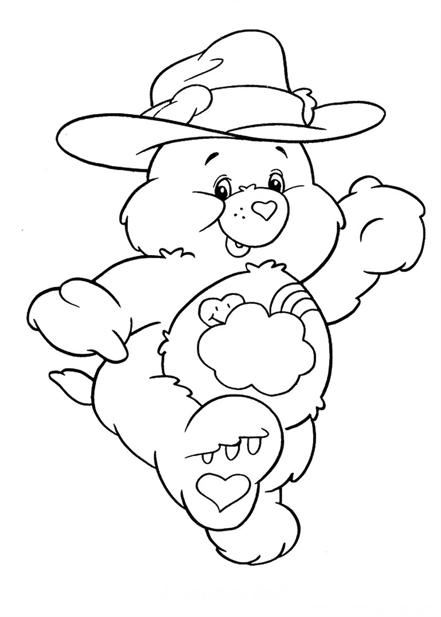 care bears coloring pages u2013 birthday printable