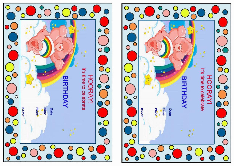Care bears birthday invitations birthday printable care bears birthday invitations monicamarmolfo Choice Image