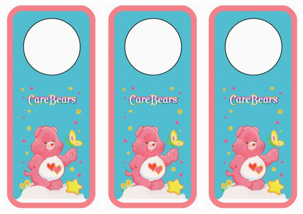 care bears door hangers  u2013 birthday printable