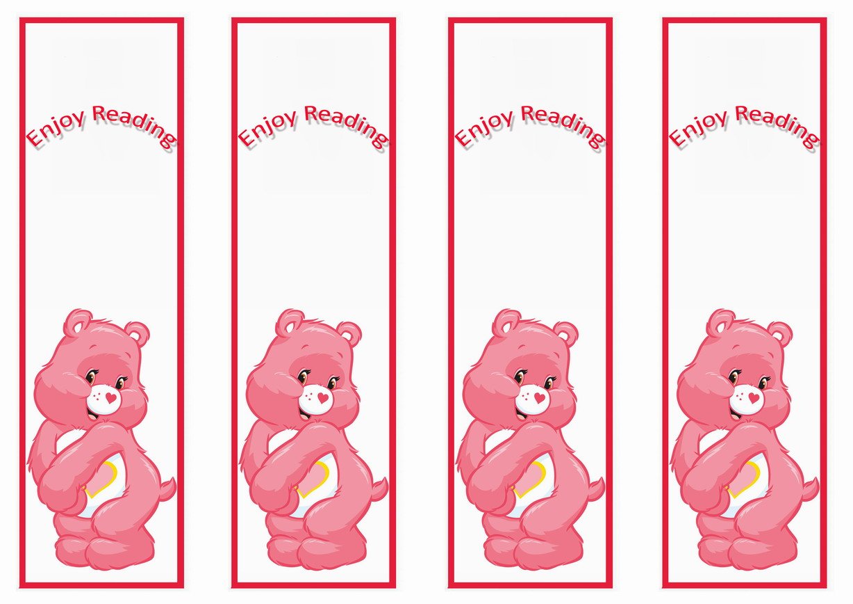 Care Bears Bookmarks Birthday