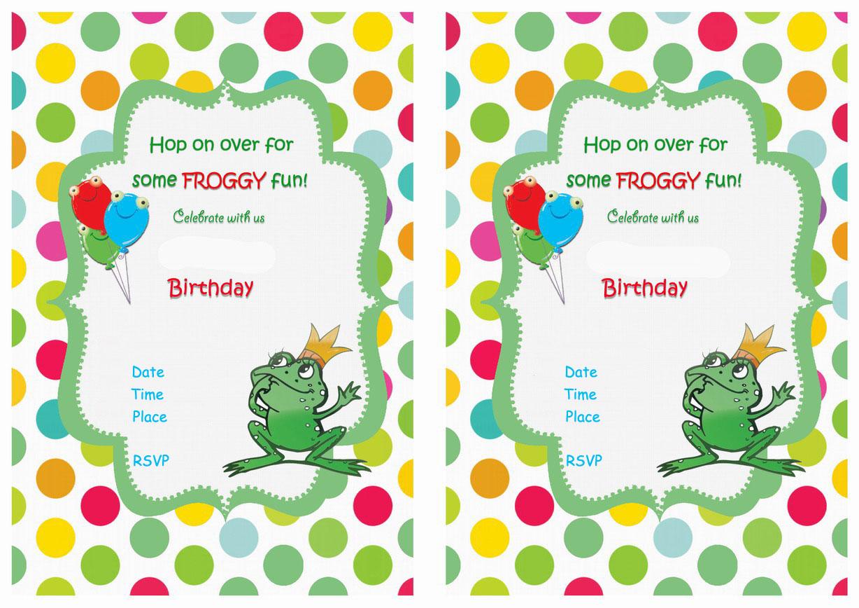 Frog Birthday Invitations – Birthday Printable