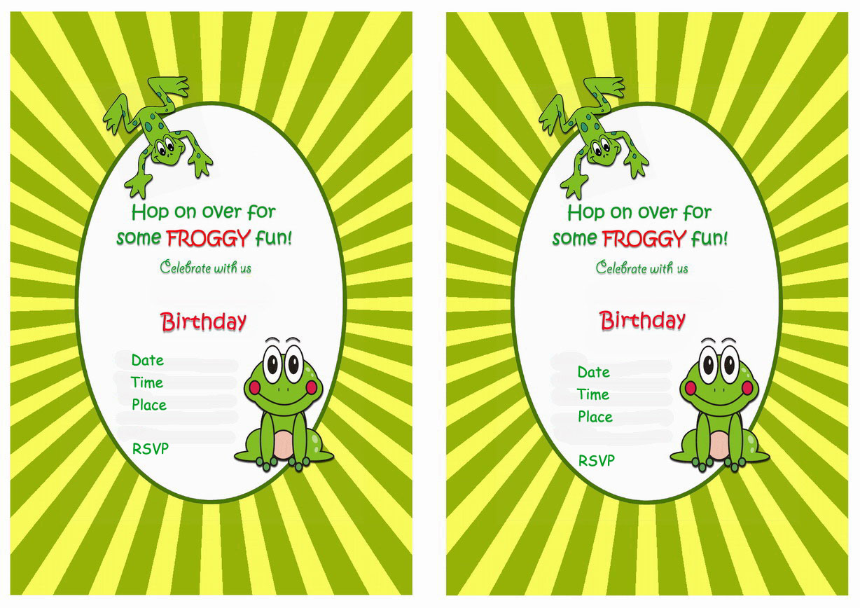 Frog birthday invitations birthday printable frog birthday invitations filmwisefo Images