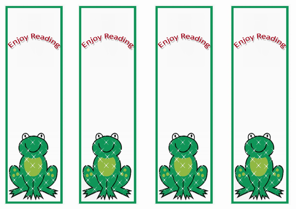 Frog Bookmraks Birthday Printable