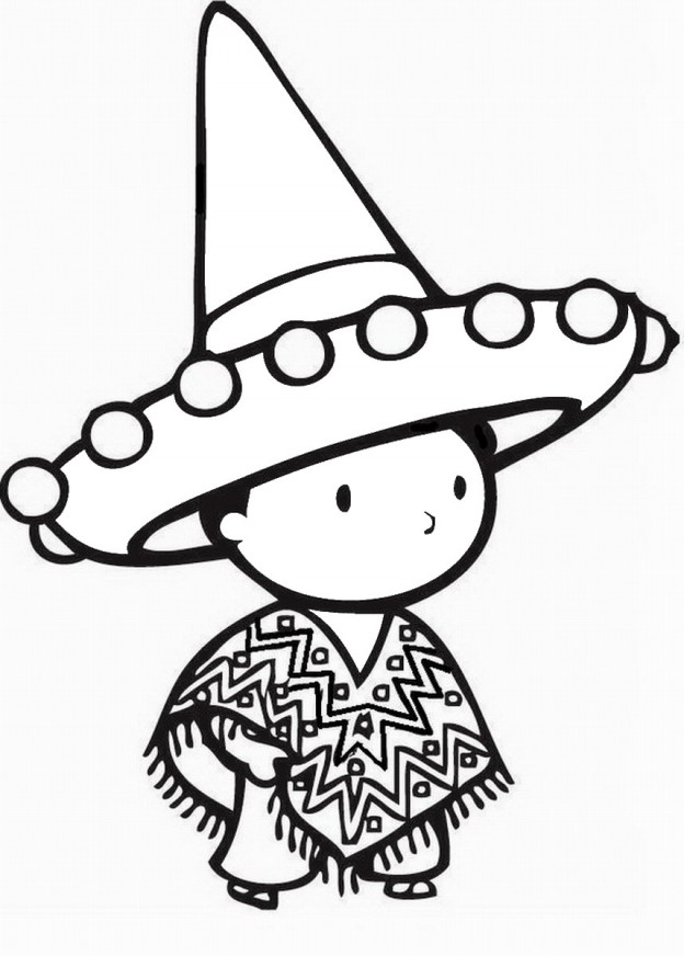 Birthday Printable Fiesta Mexican Coloring Pages
