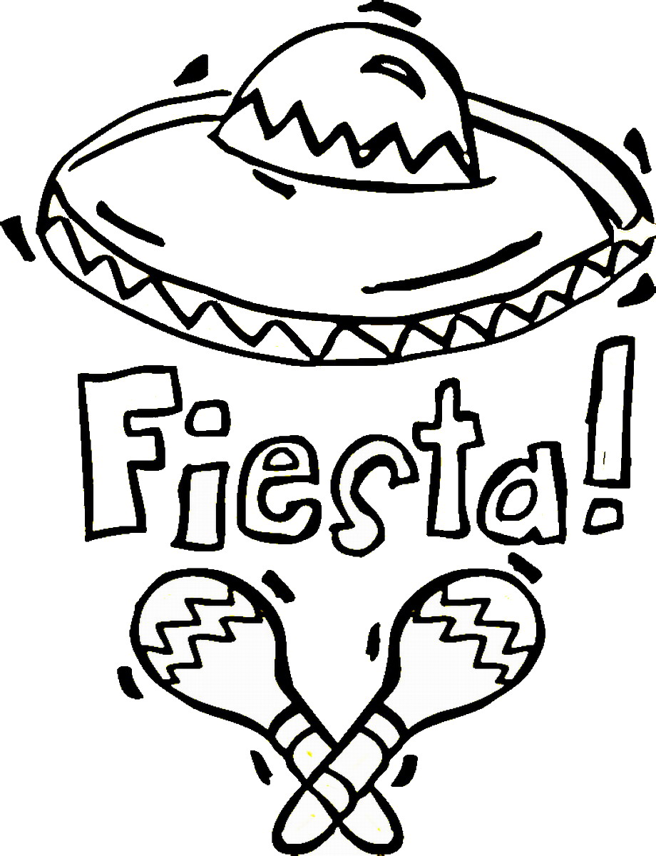 fiesta coloring pages Fiesta Mexican Coloring Pages | Birthday Printable fiesta coloring pages