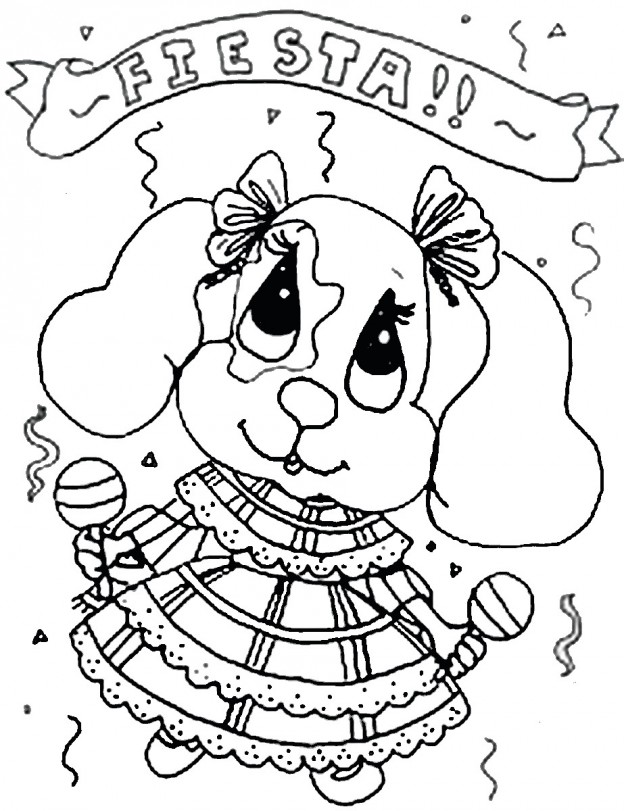 fiesta coloring pages birthday printable fiesta mexican coloring pages